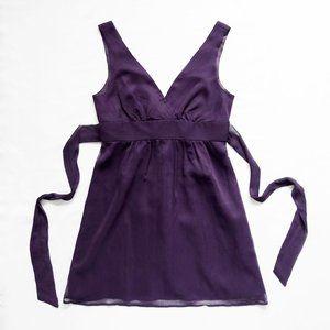 NWT F21 Sheer Top Layer Sleeveless Tie Back Dress